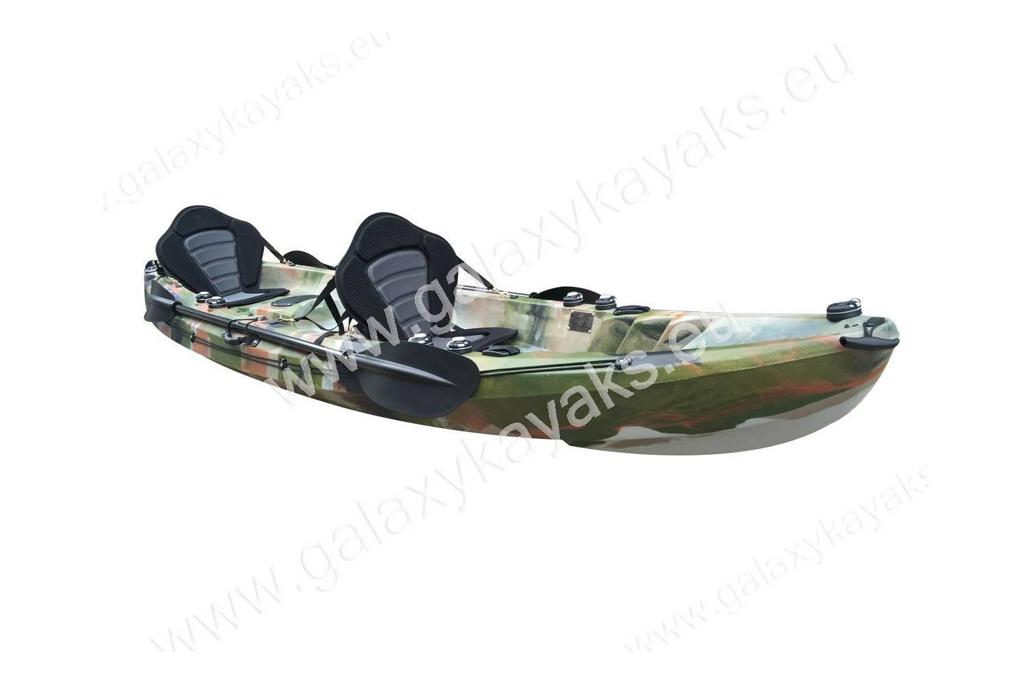 Cruz fisher tandem fishing kayak galaxy kayaks for Best tandem fishing kayak